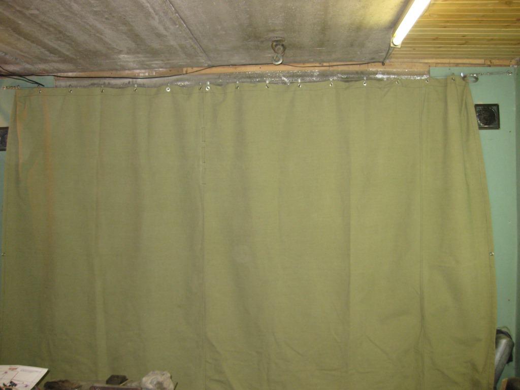 Как сделать штору для гаража 849